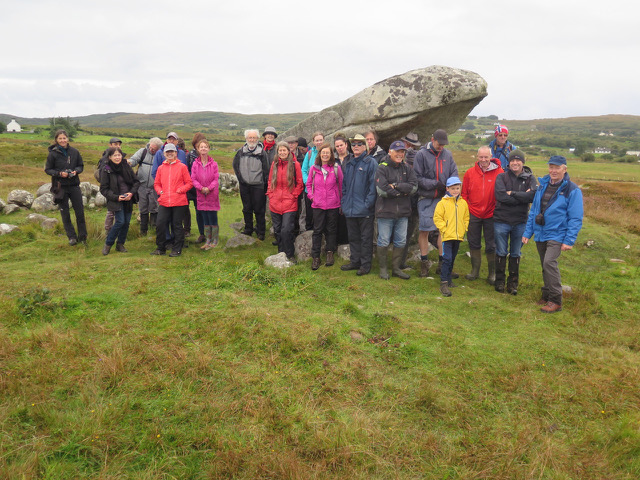IQUA members at Cloghanmore Portal Tomb