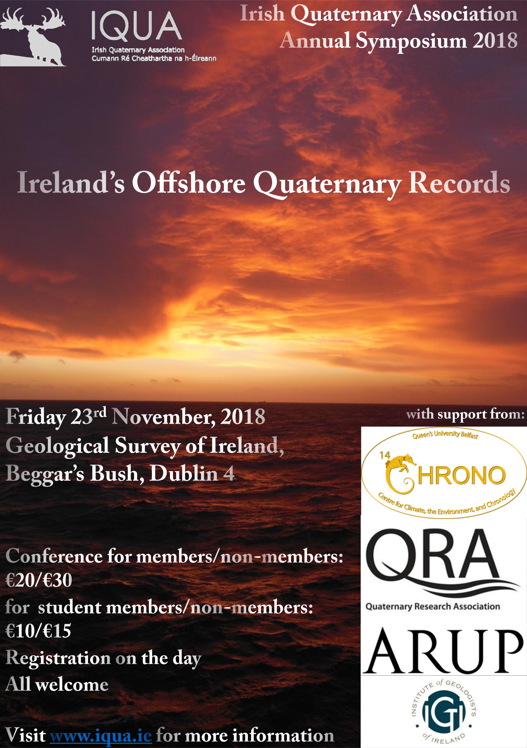IQUA November 2018 Symposium: Ireland's Offshore Quaternary Records