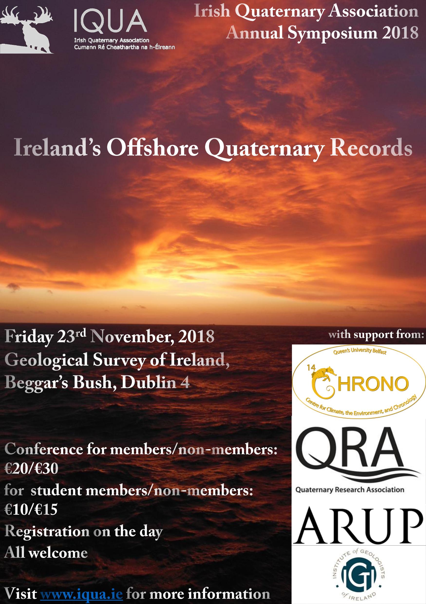 IQUA November 2018 Symposium: Ireland's Offshore Quaternary Records