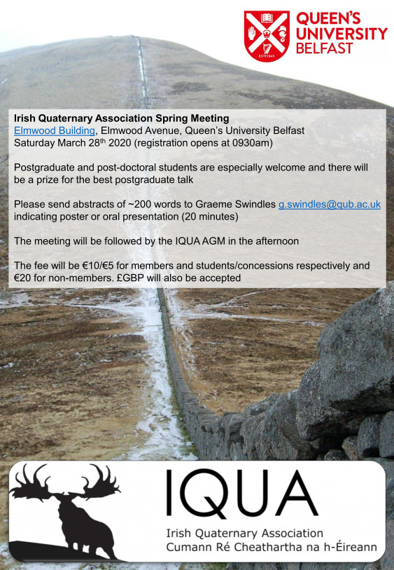 IQUA spring meeting 2020 at Queen's Univeristy Belfast
