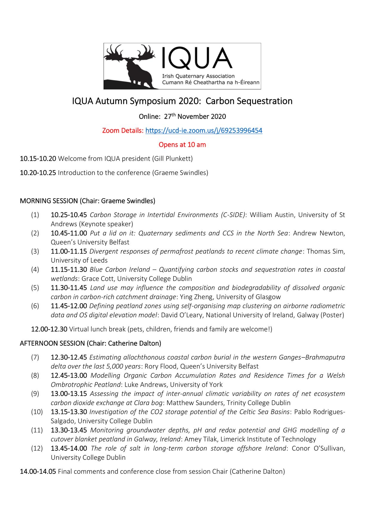 IQUA symposium 2020 programme